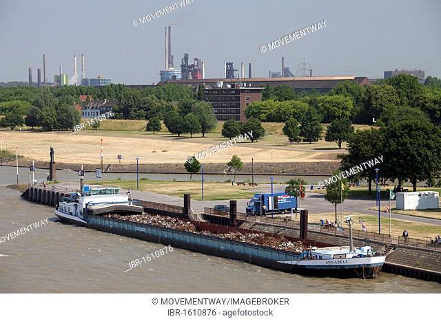 Inland port, Rhine, Ruhrort district, Duisburg, Ruhrgebiet area, North Rhine-Westphalia, Germany, Europe