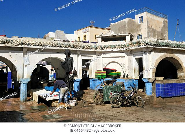 Fishmarket, souk in the old town of Essaouira, Unesco World Heritage Site, Morocco, North Africa, Africa