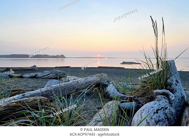 Beach scene on Vancouver Island near Sidney, BC