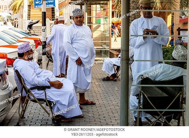 Omani Taxi Drivers, Muttrah, Muscat, Sultanate Of Oman