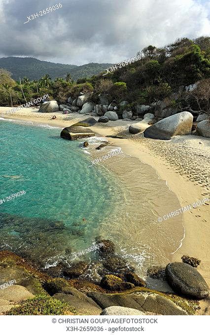 beaches of Arrecifes, Tayrona National Natural Park, Department of Magdalena, Caribbean Region, Colombia, South America