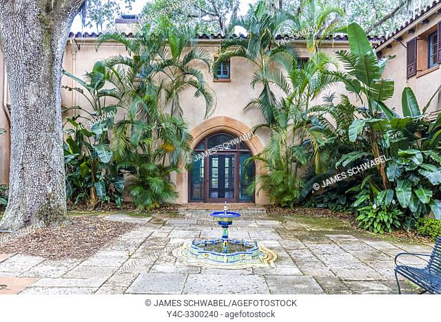 Pinewood Estate in Bok Tower Gardens also known as Bok Mountain Lake Sanctuary in Lakes Wales Polk County Florida in the United States