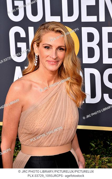 LOS ANGELES, CA. January 06, 2019: Julia Roberts at the 2019 Golden Globe Awards at the Beverly Hilton Hotel. © 2019 JRC Photo Library/PictureLux ALL RIGHTS...