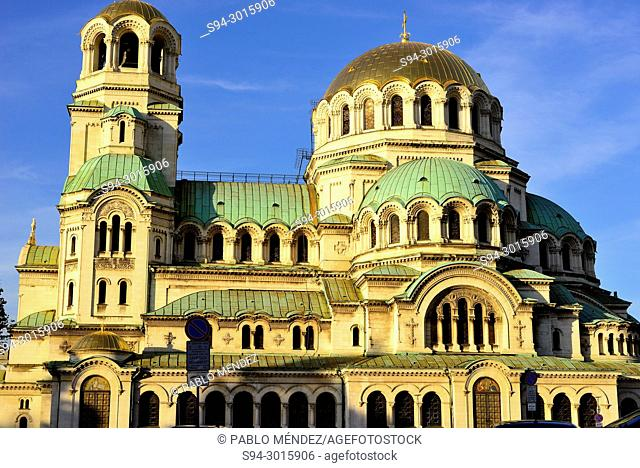 Alexander Nevski cathedral-monument in Sofia, Bulgaria