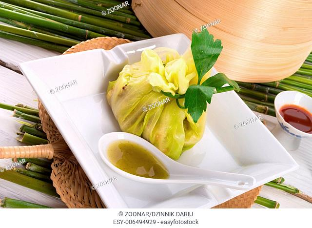cabbage with rice bags