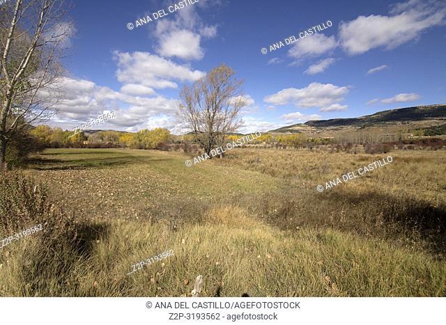 Autumn country Alcala de la Selva Teruel Aragon Spain