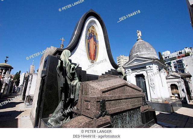 Art Nouveau mausoleum at the Cementerio de la Recoleta, Buenos Aires, Capital Federal, Argentina
