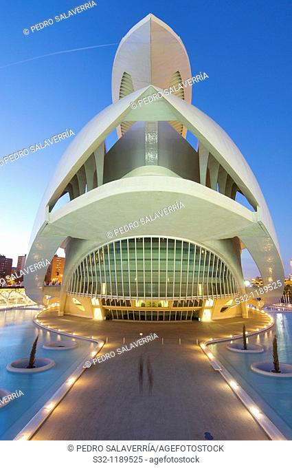 arts palace queen sofia in the city of arts and sciences, Valencia, Spain