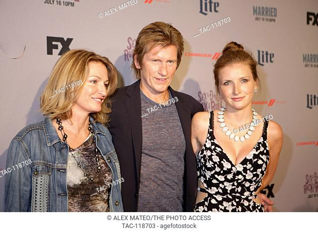 Dennis Leary Leary arrives with his wife, Ann Lembeck and Daughter, Devin Leary at FX's Sex&Drugs&Rock&Roll and Married Premiere Screenings