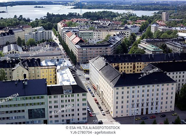 Aerial view of Helsinki Finland