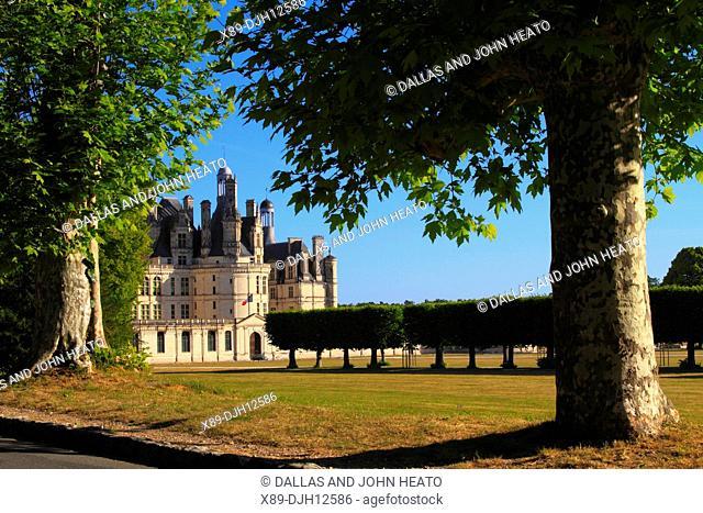 France, Loire Valley, Loir-et-Cher, Chambord, Château de Chambord, South Façade