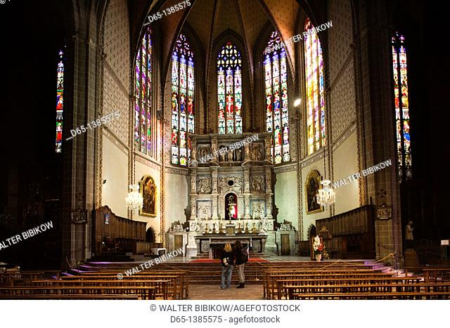 France, Languedoc-Roussillon, Pyrenees-Orientales Department, Perpignan, Cathedrale St-Jean, interior