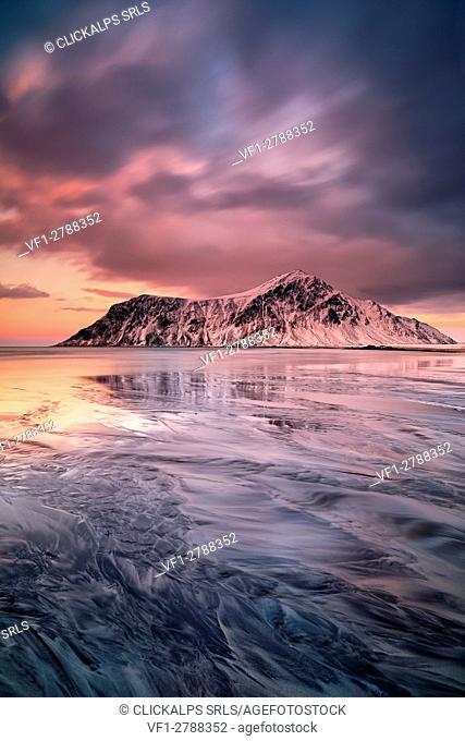 Skagsanden beach,Lofoten Islands,Norway