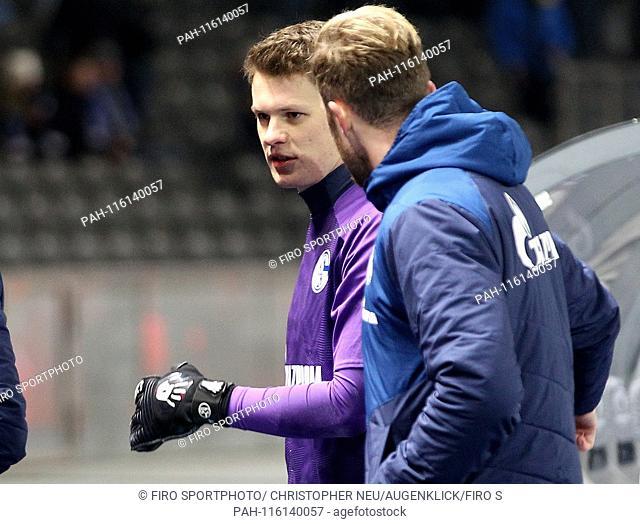 firo: 25.01.2019 football, 1.Bundesliga, season 2018/2019 Hertha BSC Berlin - FC Schalke 04, Alexander NUBEL, FC Schalke 04, Ralf FAHRMANN, FAHRMANN