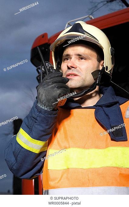 Fireman walkie-talkie Supraphoto