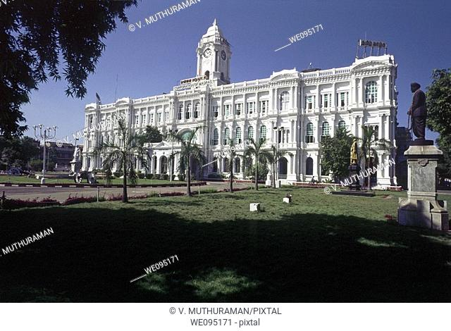 Heritage Building- Ripon Building built in 1913- Corporation of Chennai,Madras, Tamil Nadu