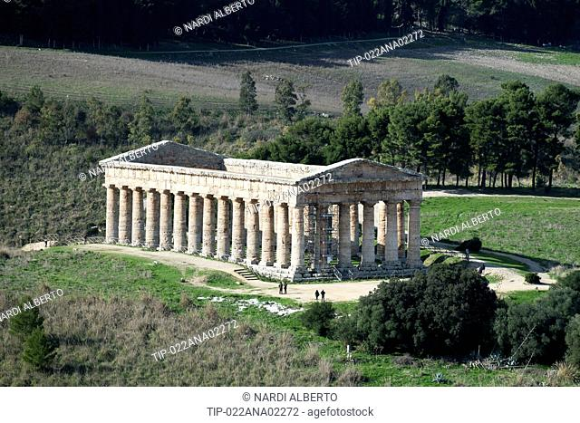 Italy, Sicily, Segesta archaeological site (the most important Elimi city
