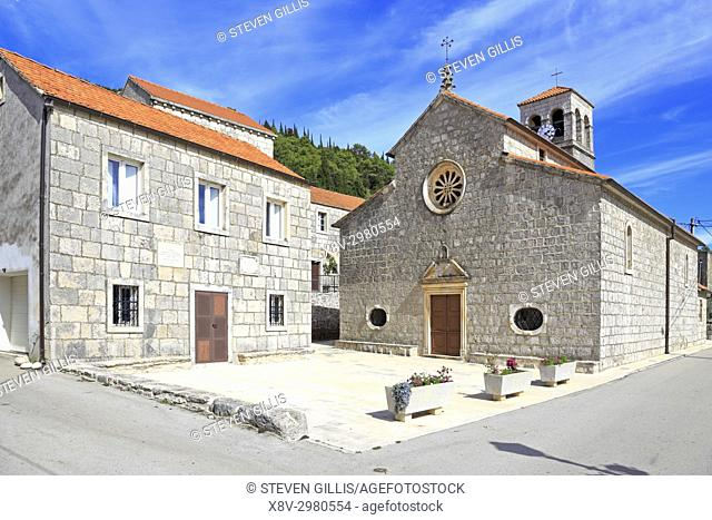 The Church of Our Lady of Snows, Pupnat, Korcula Island, Croatia, Dalmatia, Dalmatian Coast, Europe