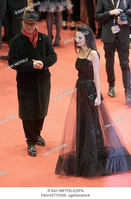 66th International Film Festival in Berlin, Germany, 11 February 2016. Opening gala and film premiere -Hail Ceasar!-: Dieter Kosslick and Amal Clooney