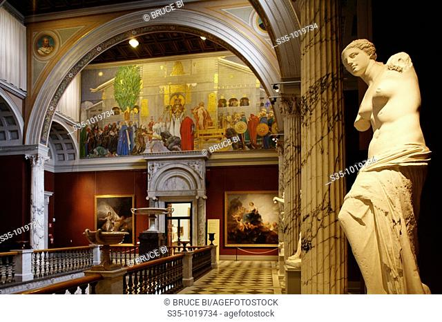 Interior view of National Museum, Stockholm, Sweden