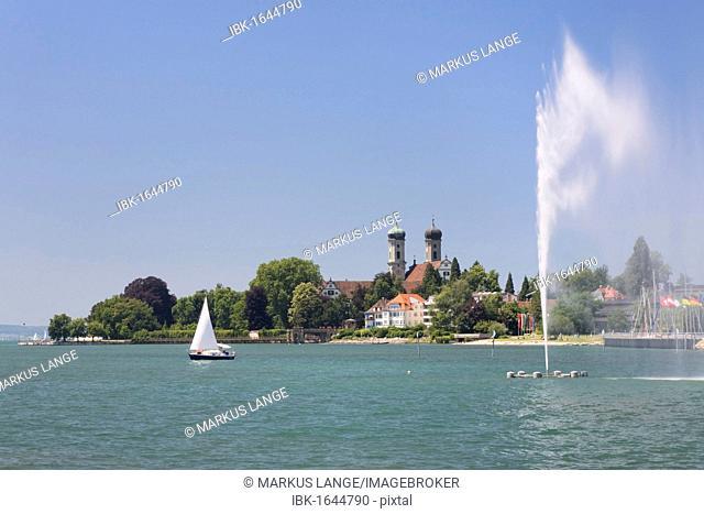 Schlosskirche, castle church, Friedrichshafen, Lake Constance, Baden-Wuerttemberg, Germany, Europe