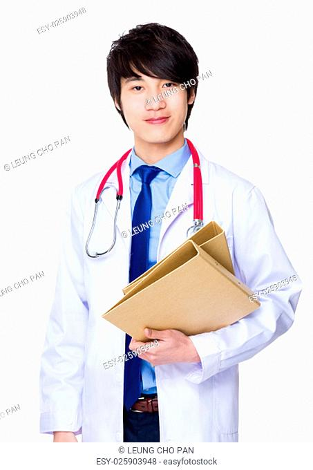 Doctor hold with folder