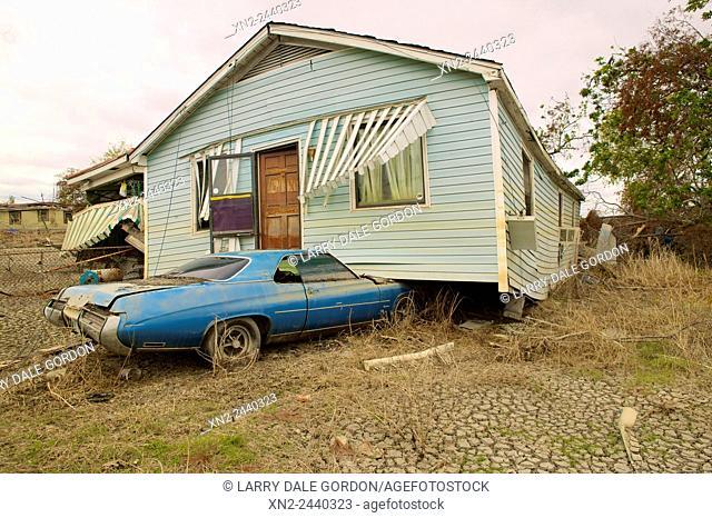 Damage from Hurricane Katrina. New Orleans, Louisiana, USA