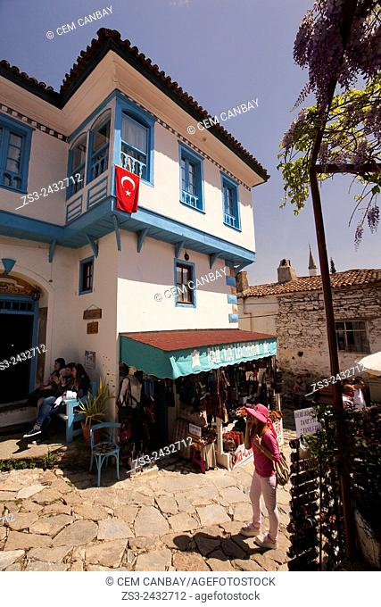 Traditional houses at the center of the mountain village Sirince, Lycia, Selcuk, Izmir, Turkey, Europe