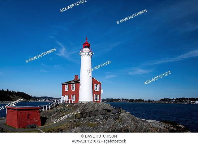 Fort Rodd Lighthouse, Fort Rodd National Histroic Site, Victoria, BC, Canada