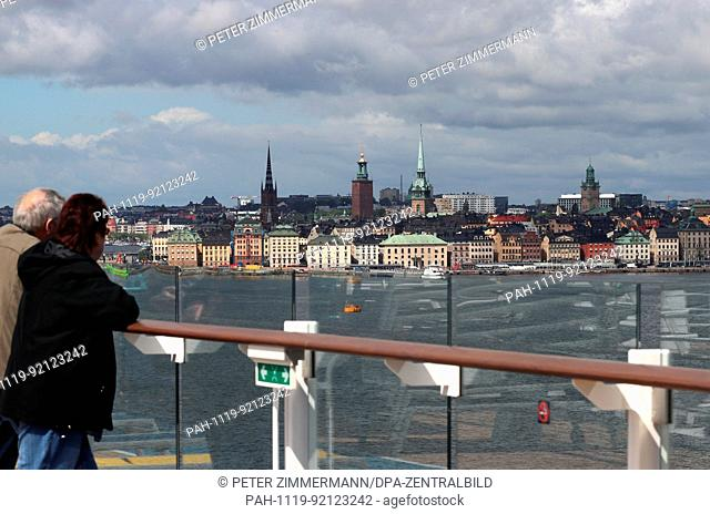 View of the Swedish capital of Stockholm. The landscape of Stockholm has changed drastically throughout its history due to Scandinavian land uplift