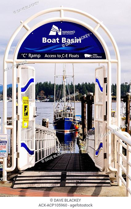 The Boat Basin at the waterfront in Nanaimo, British Columbia