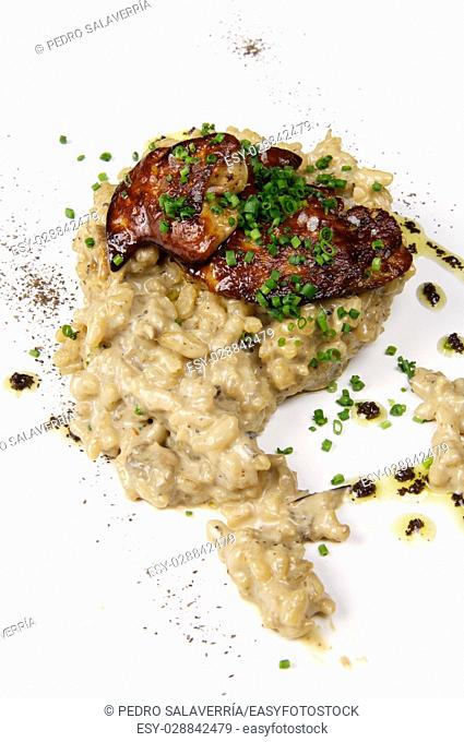 Mushroom risotto, truffles and foie
