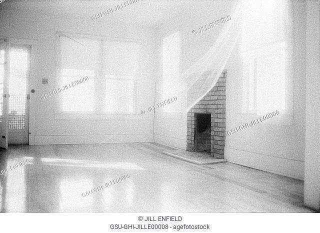 fireplace, empty, room