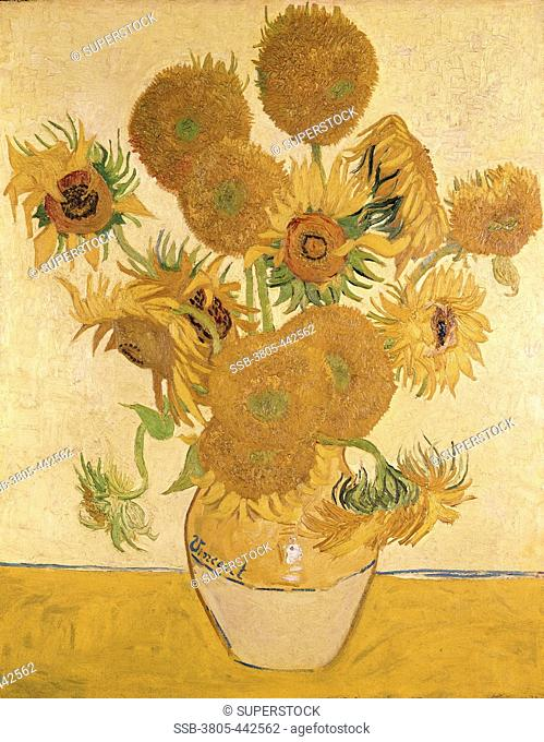 Sunflowers 1888 Vincent van Gogh 1853-1890 Dutch Oil on canvas National Gallery, London, England