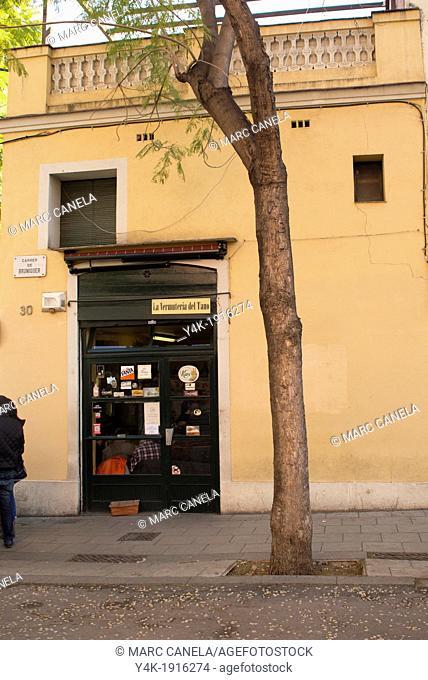 Europe, Spain, Barcelona Gracia neighborhood