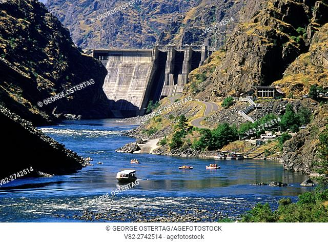 Hells Canyon Dam from Stud Creek Trail, Snake Wild & Scenic River, Hells Canyon National Recreation Area, Oregon
