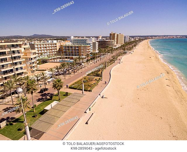 El Arenal-Playa de Palma, Llucmajor, Mallorca, balearic islands, spain, europe
