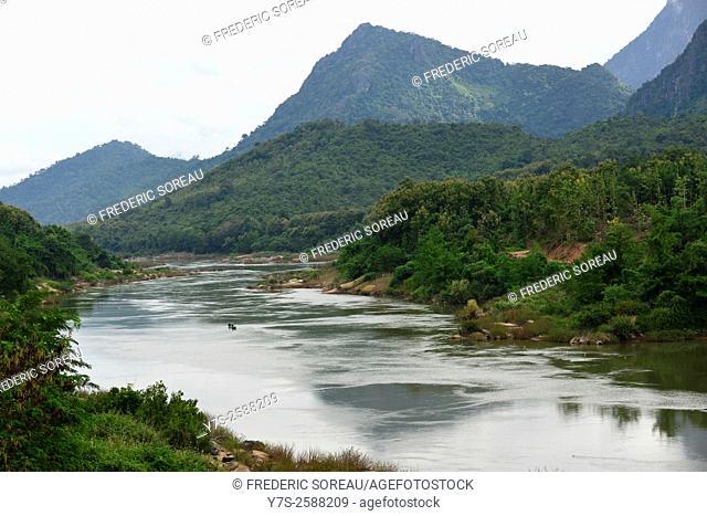 The Mekong river in Luang Prabang, Laos, South East Asia