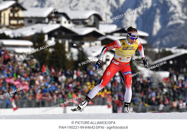 21 February 2019, Austria, Seefeld: Nordic skiing, World Championship, Cross Country Sprint Freestyle, Women, Qualification
