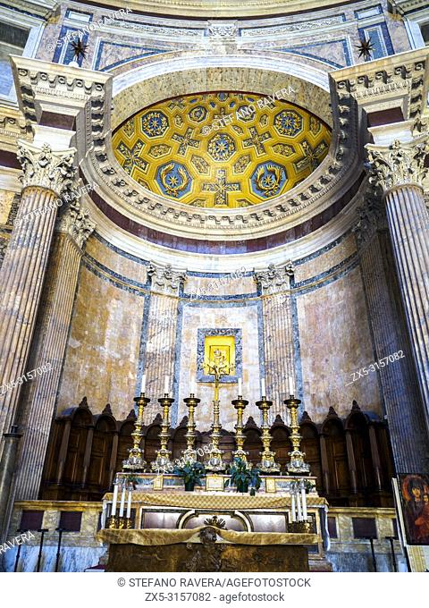 Interior view of the Pantheon - Rome, Italy