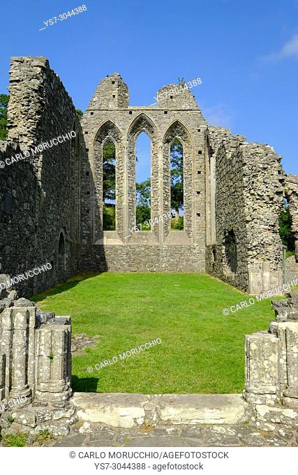 Inch Abbey,a large, ruined monastic site, Downpatrick, Northern Ireland