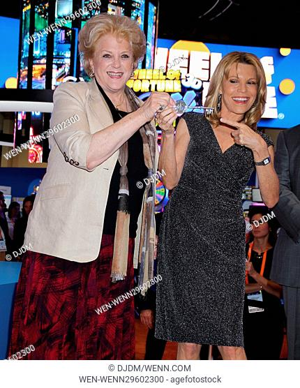 Vanna White receives the key to the city of Las Vegas at G2E in honor of IGT's Wheel Of Fortune Slots 20th anniversary Featuring: Mayor Carolyn Goodman
