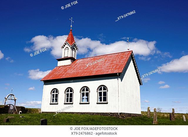 typical icelandic style church at Hraungerði hraungerdi iceland