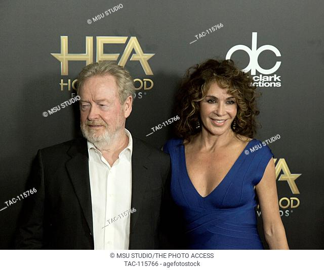 Ridley Scott and Giannina Facio attend 19th Annual Hollywood Film Awards at the Beverly Hilton Hotel on November 1, 2015 in Beverly Hills, California, USA