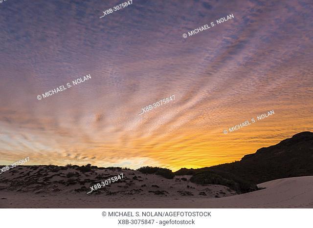 Sunset over Bahia Bonanza, Baja California Sur, Mexico