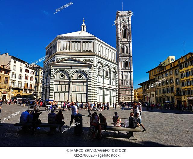 Florence Baptistery, near the Cathedral. The Dome of Florence Cathedral ('Cathedral of Saint Mary of the Flowers') is the main church of Florence, Italy