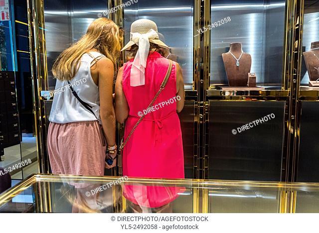 Paris, France, Shopping Inside, Luxury Brands Store, Gucci, Avenue Montaigne