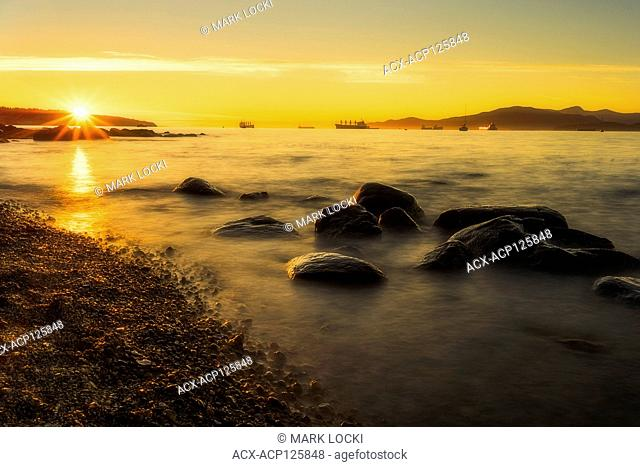 Sunset from Vanier Park, English Bay, Vancouver, Canada