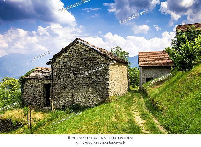 Perlana valley, Como province, Lombardy, Italy, Europe