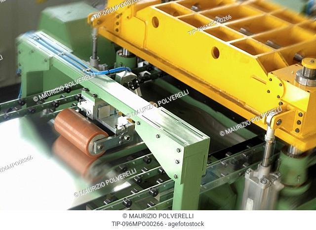 Detail of metal manufacturing machine